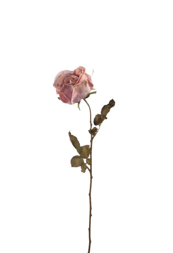 Zijden roos vintagelook